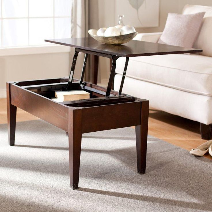 Turner Lift Top Coffee Table   Espresso   Keep All Your Books, Magazines,  Pens, And Games At Your Fingertips Without Cluttering Up Your Coffee Table!
