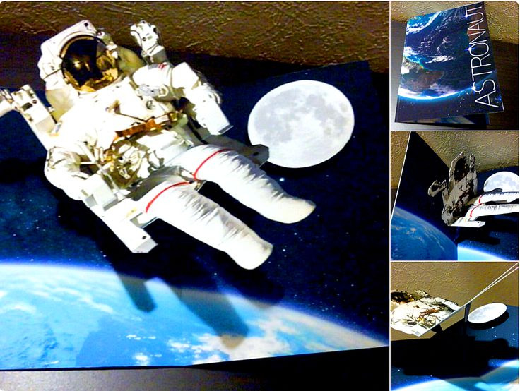むすぶ様より  宇宙飛行士ポップアップカード✨ ➡️https://goo.gl/hIuUPi    宇宙飛行士が大気圏でプカプカ浮いてる #ポップアップカード で、すごくカッコイイんです!(>ω<) ✨🌕 #宇宙飛行士 #NASA #大気圏 #宇宙