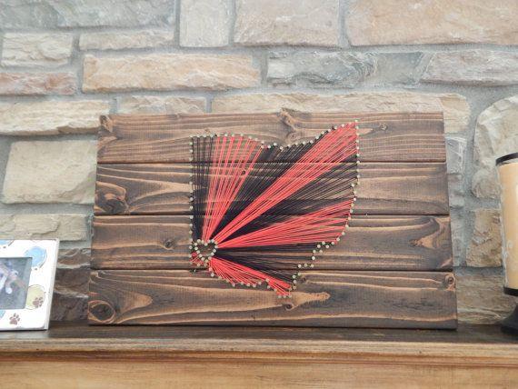 University of Cincinnati Nail and String Wood Wall Art   Etsy: KKsSouthernCharmShop