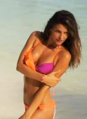 Tyler Rose Swimwear SI Swimsuit 2012 Crush - Bottom    Orange and fuchsia cheeky ruched bottom with spaghetti sides. #summer #bikini