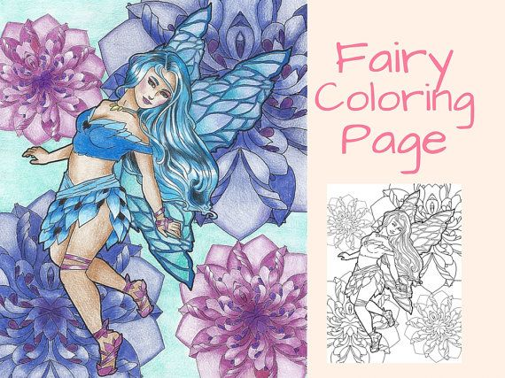 35 best Fairy Adult Coloring Books images on Pinterest