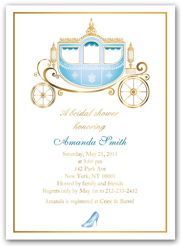 """Cinderella Shower"" Bridal Shower Invitations"