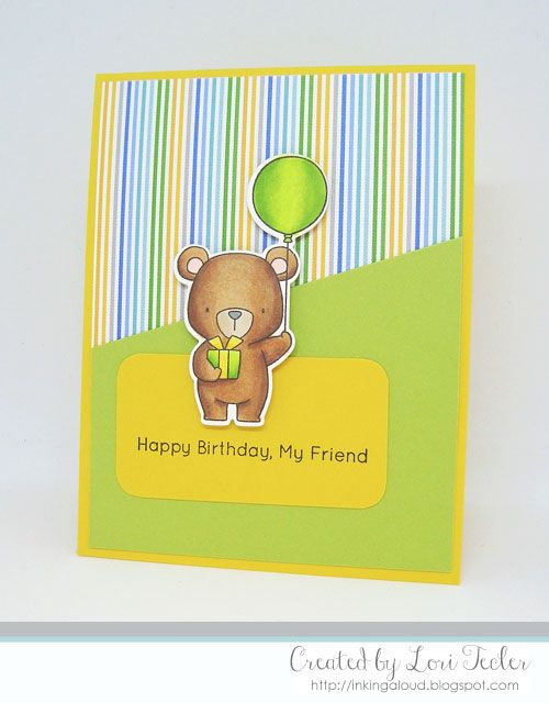 Happy Birthday, My Friend card-designed by Lori Tecler/Inking Aloud-stamps and dies from My Favorite Things