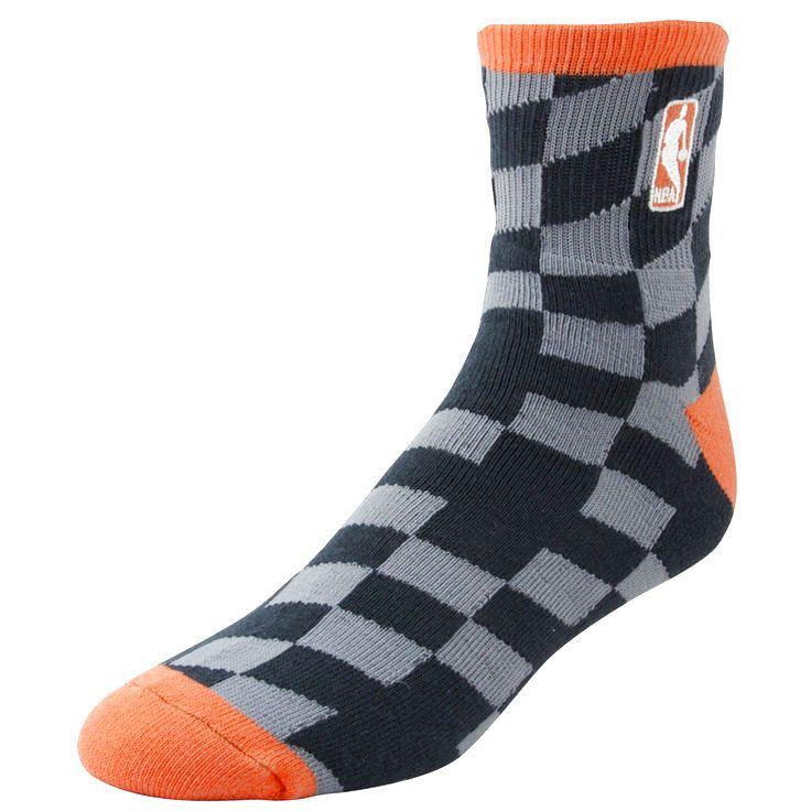 NBA Logo Champion Socks - Charcoal/Orange - $11.19