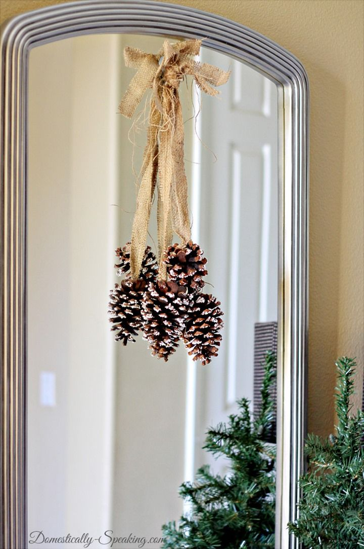 Christmas Home Tour 2013 Epsom Salt Pinecones