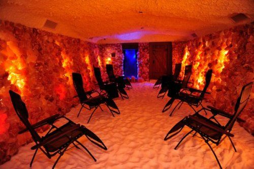 This is so cool! A Himalayan salt cave. Must be a great haven for a deep detox!