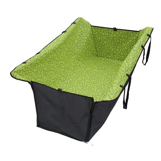 Fuloon Orange /Green Washable Double Layer Waterproof Pet Dog Cat Safe Safety Travel Hammock Car Bed Seat Cover Mat Blanket ,Adjustable Locking Seat Clasps For Tight Fit, Seat Fasteners Come With Snap Buckles in Size of 126*40*55CM *** For more information, visit image link.