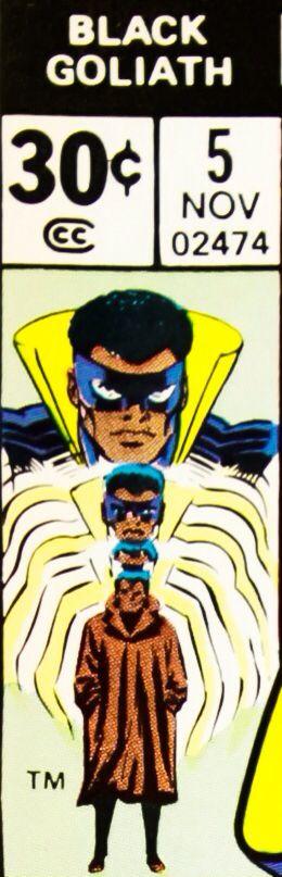 Bronze age Marvel Comics corner box art - Black Goliath (Bill Foster)