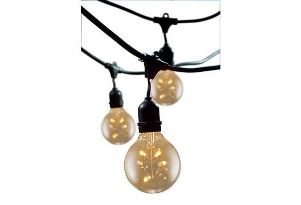 Cambridge Outdoor String Lights, Black on OneKingsLane.com
