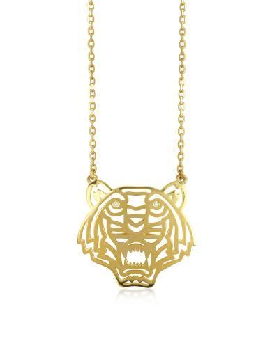 #Collana dorata con tigre e diamanti  ad Euro 145.00 in #Gioielli collane #Moda