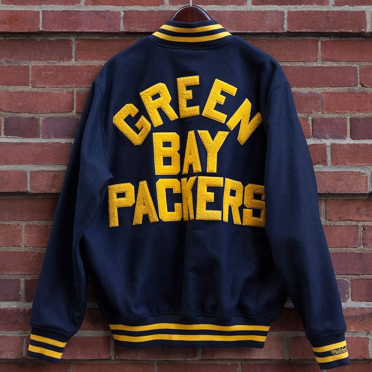 Green Bay Packers Classic Wool Bomber Jacket at the Packers Pro Shop