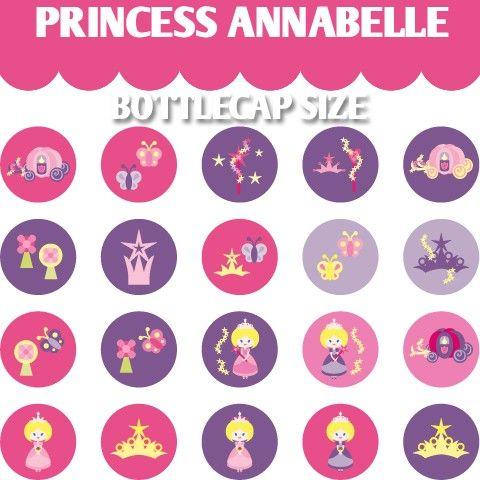 Princess Annabelle 02077   Bottlecap 1313 size  by blessedgrafik