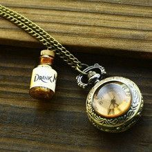 Wishing Bottle Vintage Pocket Watches Women Guardare Le Donne Watch Men Orologio Uomo Best Gift To Friend