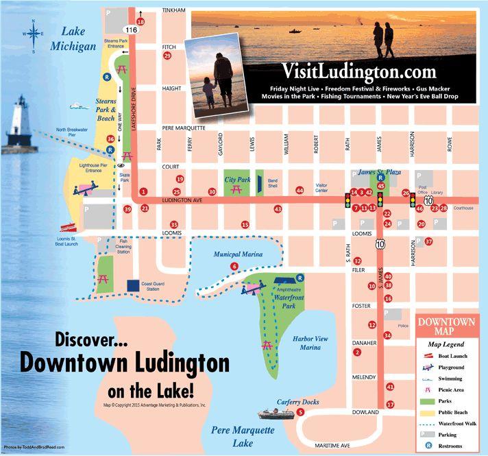 Downtown Ludington map