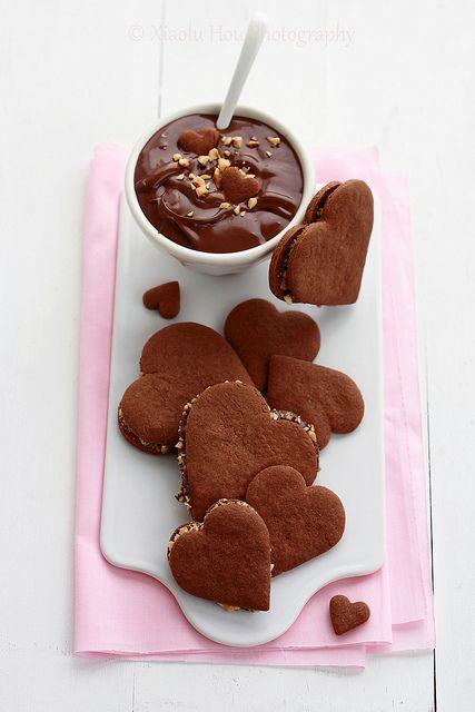 Chocolate Nutella hearts