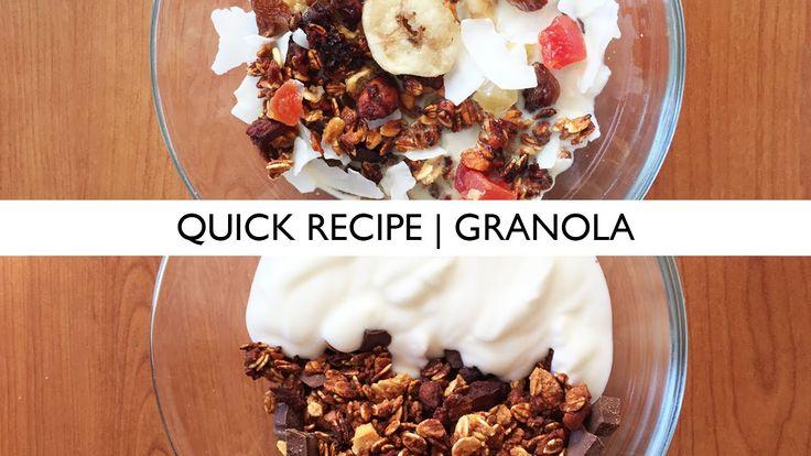 Quick Recipe | Vegan Homemade Tasty Granola