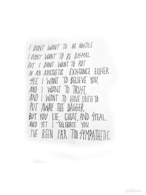 Tool lyrics should be tattooed across my heart.