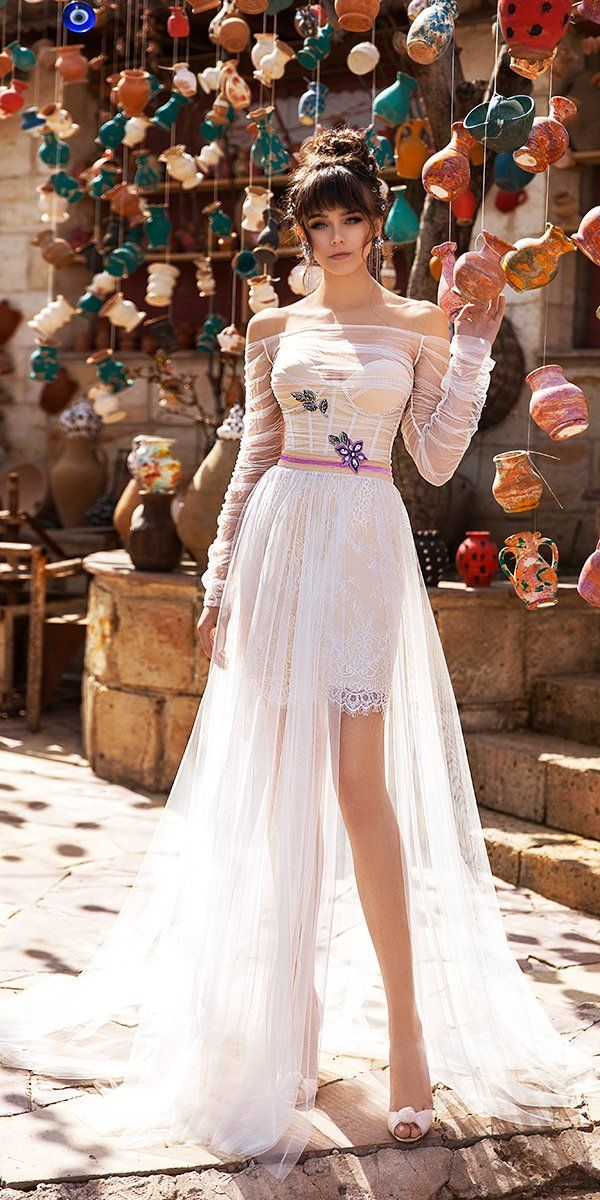 51 Beach Wedding Dresses Perfect For Destination Weddings Dress Wind Short Wedding Dress Wedding Dress Long Sleeve,Dresses For A Wedding Guest In October