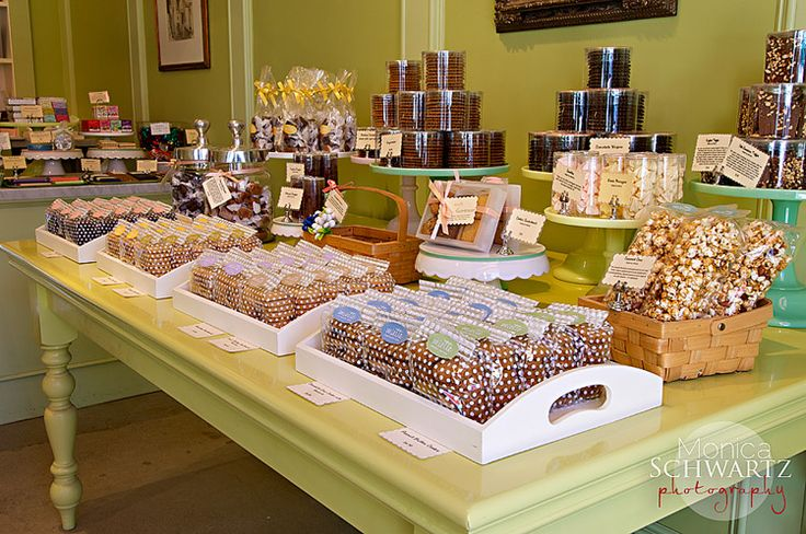 table-display-cookies-caramels-toffee-popcorn-candy-Miette-Bakery-Larkspur-California