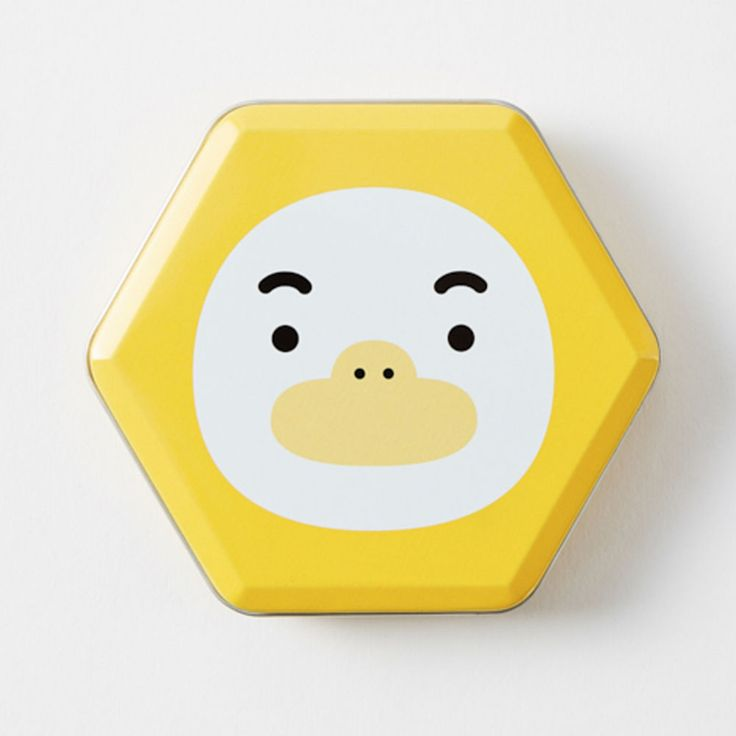 New Korea Kakao Talk Friends Cute Character Hexagon 10cm 4in Tincase Tube #KakaoFriends