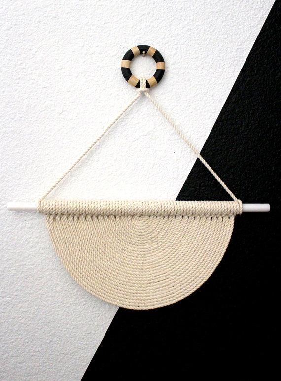 Etsy seller @himoart has minimalist macramé down to a science. #etsyfinds