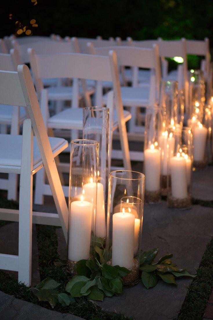 Candle Lit Hochzeit Gang in der Nacht #Hochzeit #aisledecor #Hochzeitskerzen #fl …   – Wedding
