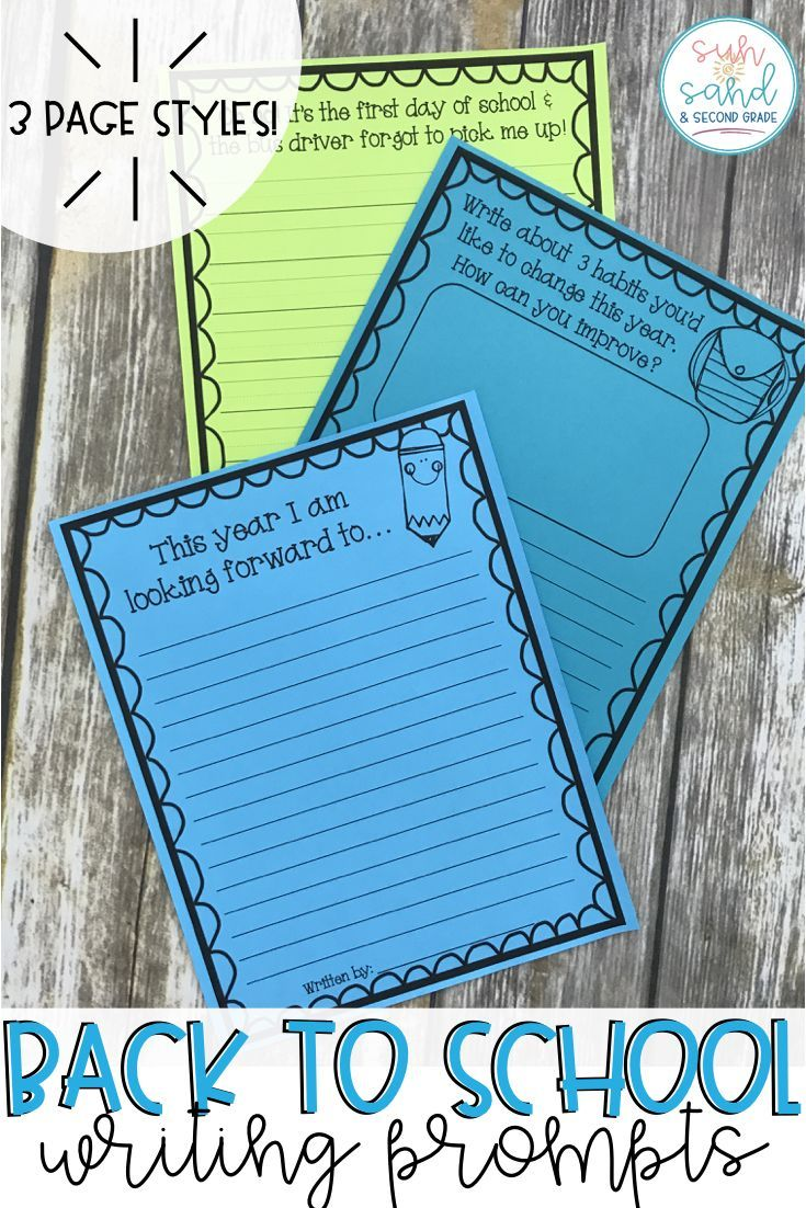 008 Back to School Writing Prompts & Page Topper Craftivities