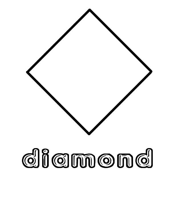 Diamond Shape Diamond Shape Coloring Pages Shape Coloring