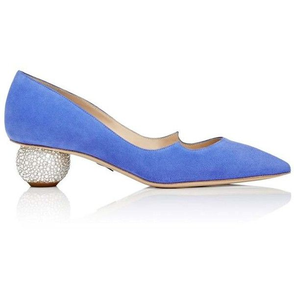 Paul Andrew Women's Ankara Suede Pumps (55.360 RUB) ❤ liked on Polyvore featuring shoes, pumps, blue, suede shoes, suede pointy toe pumps, blue pointed toe pumps, mid heel pumps and mid-heel pumps