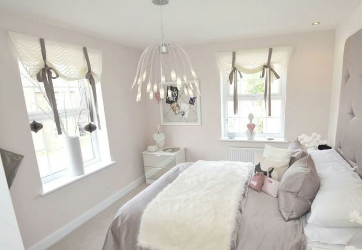 Interior Designed Teenage Girls Bedroom. Mellow Mocha. Faux London Blind effect. David Wilson Homes 2016 #dwh #davidwilsonhomes #showhomes #interiordesign