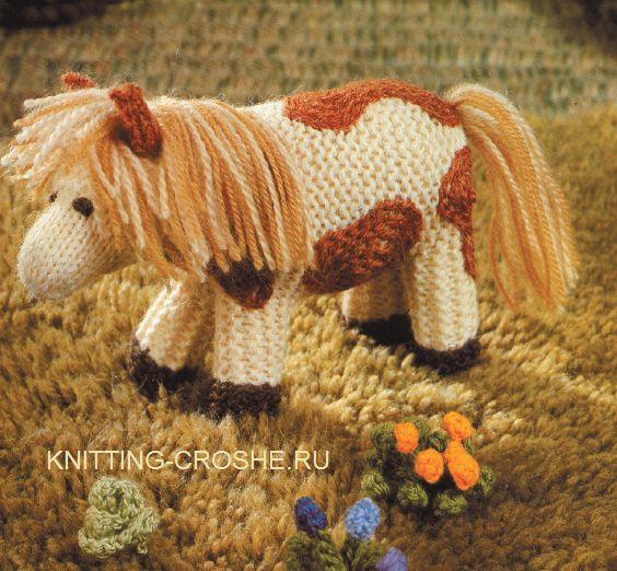 Вязаная лошадь описание