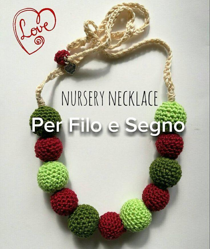 Nursery necklace - collana allattamento di perfiloesegnostore su Etsy