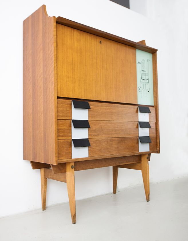 Anonymous; Swedish Secretary Cabinet, 1950s.