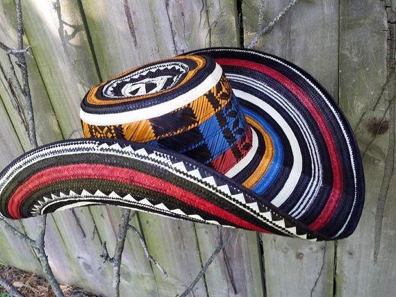 traditional Colombian Hat Sombrero vueltiao by circuitvintage