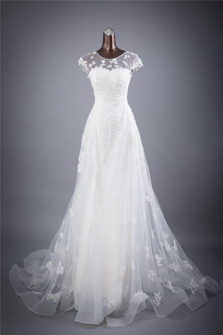 Real photo lace flores O_neck e Sexy Backless bainha vestidos de Casamento vestidos de noiva robe de mariage