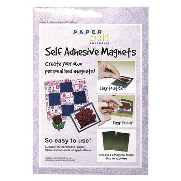 Papercraft Magnet Self Adhesive 2 Pack Black