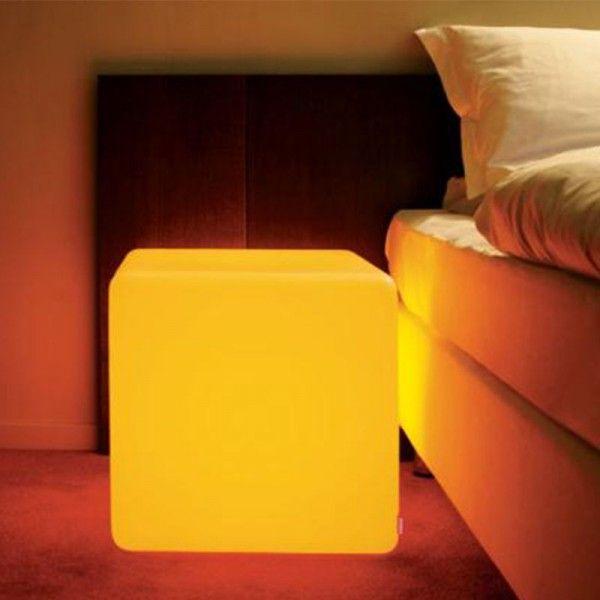 Cube LED Outdoor Solar Garden Chair RGB