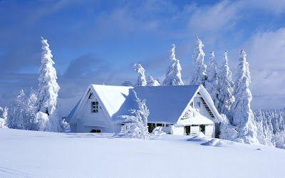 Imagini de Iarna - Cabane la Munte - Poze Imagini Desktop