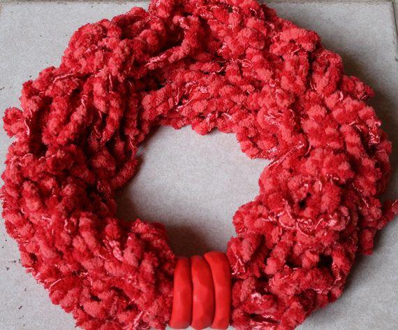 infinity scarf coral di ilFilodiFranci su Etsy