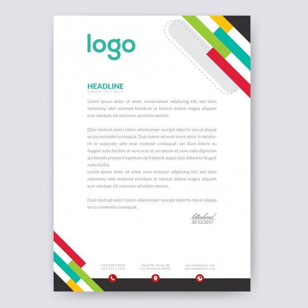 Colorful Letterhead Design.   Letterhead design, Letterhead ...