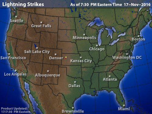 Intellicast - Lightning Strikes in United States