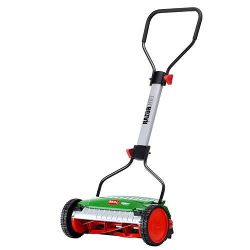 The Brill Razorcut 38 Push Reel Lawn Mower (78371) is the newly improved version of the bestselling Brill Luxus. This new generation reel mower, weighing in at 17 pounds, is easy to push, requires little maintenance. It is so quiet, you can carry on a conversation while you mow.