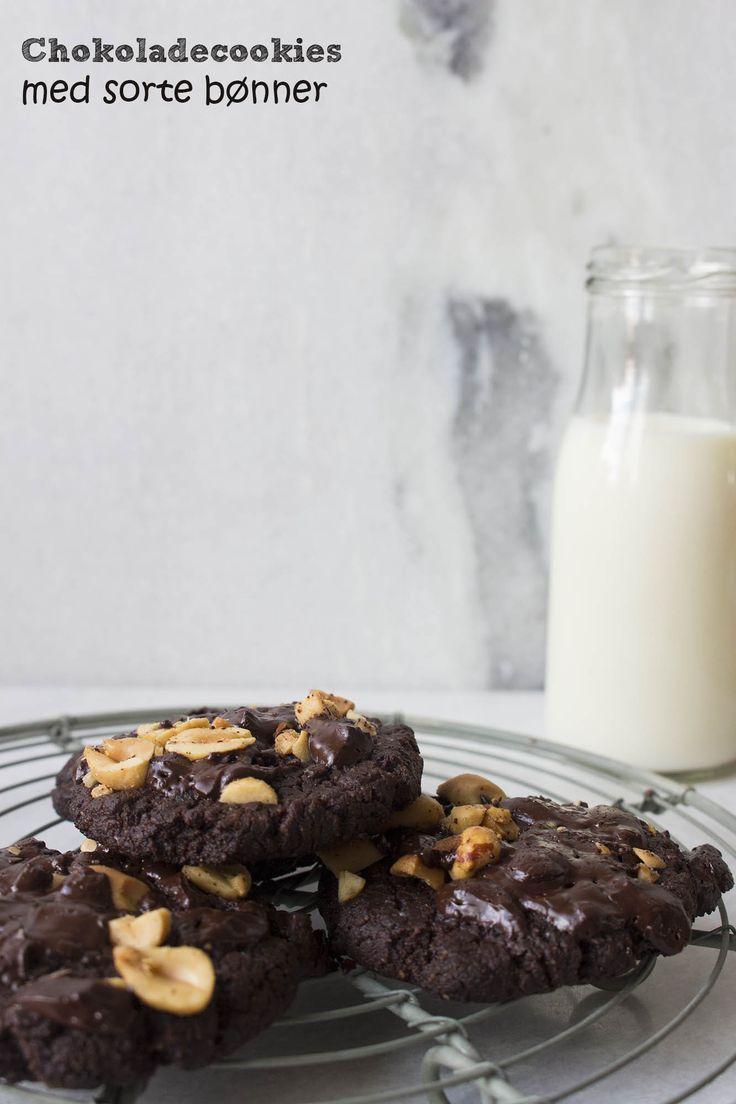 Chokoladecookies med sorte bønner