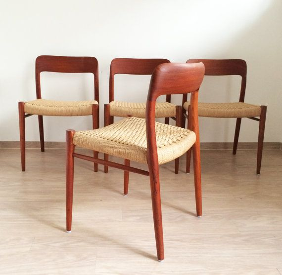 Epic Two chairs by Niels Otto M ller Model This set is a striking piece of