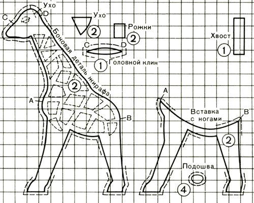 Жираф (мягкая игрушка своими руками) - www.HolidaySoon.org giraffe pattern