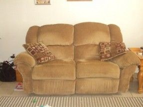 Matching reclining sofa and loveseat for  sale sofa has electric recliners and loveseat is a rocker. The loveseat is pictured.