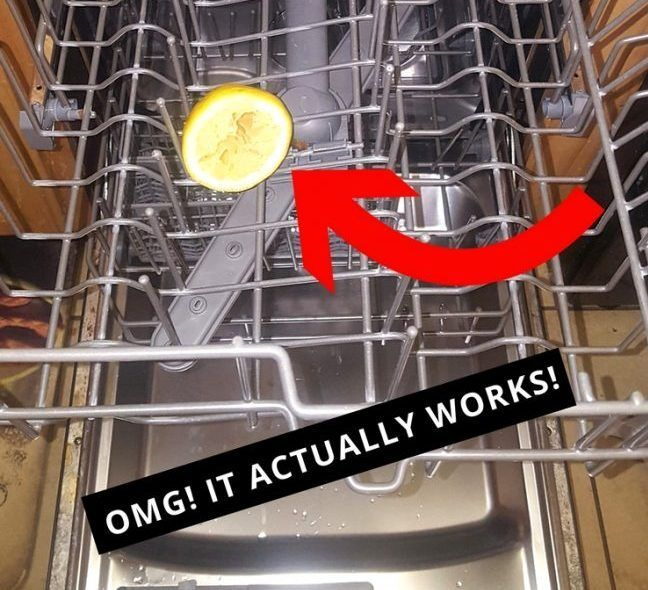 I Can T Believe This Actually Works Put A Lemon In Your Dishwasher And Be Amazed At What Happens N Dishwasher Smell Cleaning Your Dishwasher How To Clean Rust