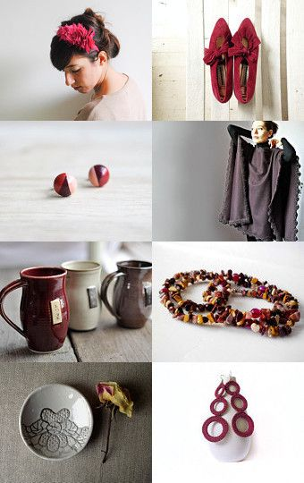 Burgundy by labottegadegliusvei on Etsy--Pinned with TreasuryPin.com