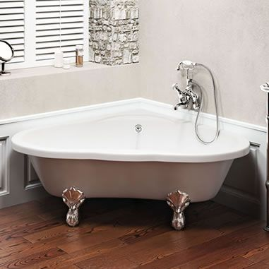 Clearwater heart freestanding bath with black claw feet for Coloured free standing bath