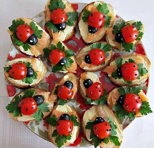ladybug appetisers